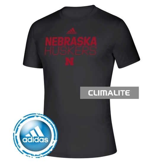 Picture of NU Adidas® Locker Room Stacked Short Sleeve Shirt