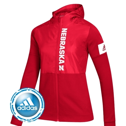 Picture of Nebraska Adidas® Ladies Game Mode Full Zip Jacket