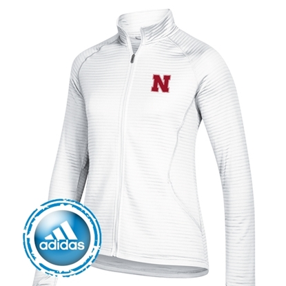 Picture of Nebraska Adidas® Ladies Essentials Textured Full Zip Jacket