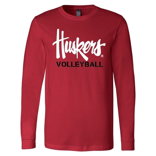 Picture of Nebraska Volleyball Soft Cotton Long Sleeve Shirt (NU-246)