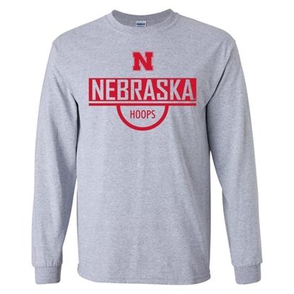 Picture of Nebraska Basketball Long Sleeve Shirt (NU-243)