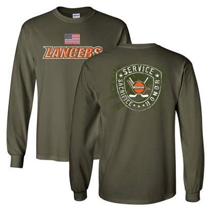 Picture of Lancers Hockey Military Night Long Sleeve Shirt (LANCERS-231)