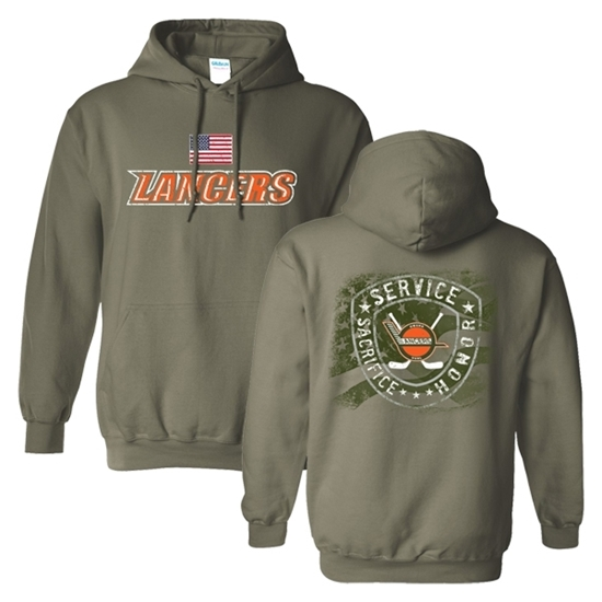 Picture of Lancers Hockey Military Night Hooded Sweatshirt (LANCERS-231)