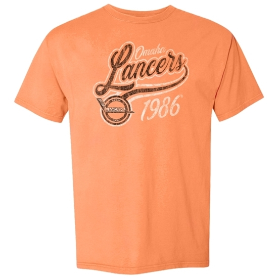 Picture of Omaha Lancers Garment Dyed Short Sleeve Shirt (LANCERS-225)