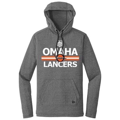 Picture of Omaha Lancers Tri-Blend Hooded Long Sleeve Pullover (LANCERS-235)