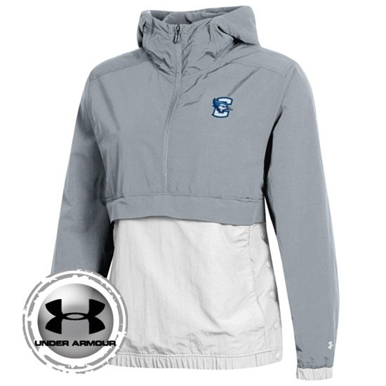 Picture of Creighton Under Armour® Ladies Crinkle Anorak ¼ Zip Cape