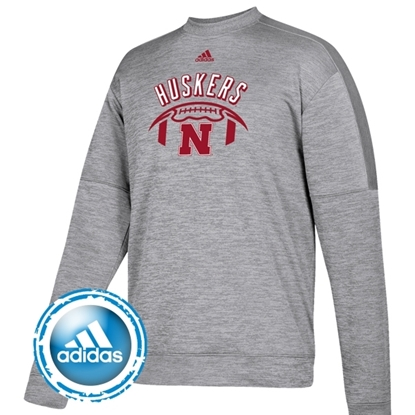 Picture of Nebraska Adidas® Football Speed Arch Team Issue Crew