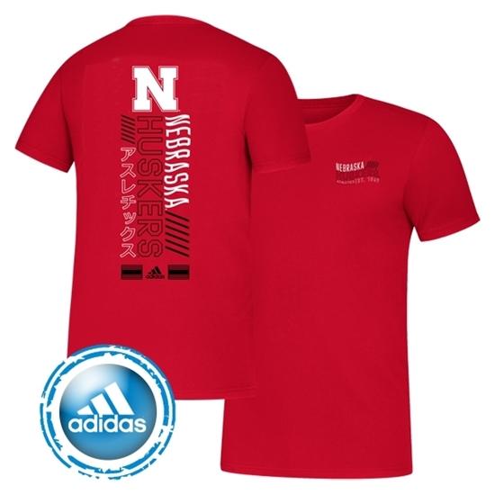 Picture of Nebraska Adidas® Tape to Tape Short Sleeve Shirt