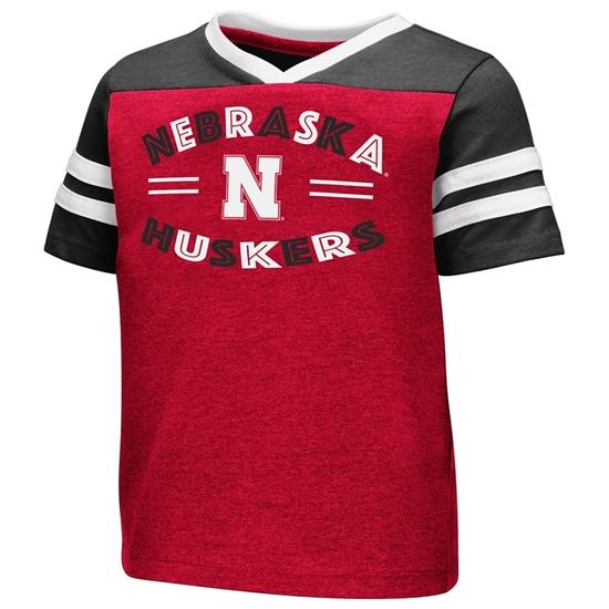 Picture of Nebraska Colosseum® Toddler Girls Good Feathers Short Sleeve Shirt
