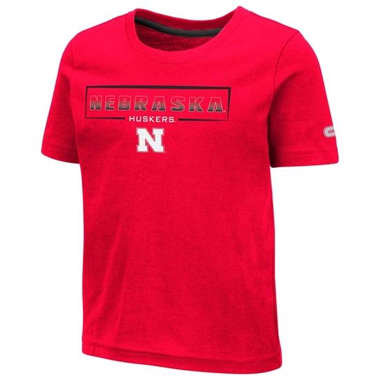 Picture of Nebraska Colosseum® Toddler Boys Hisskill Short Sleeve Shirt