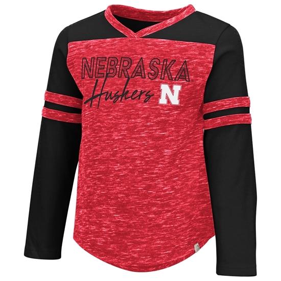 Picture of Nebraska Colosseum® Toddler Girls Pipsqueak Long Sleeve Shirt