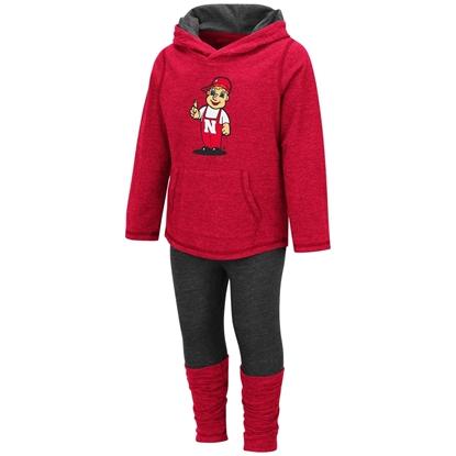 Picture of Nebraska Colosseum® Toddler Girls Minerva Long Sleeve Shirt & Leggings Set
