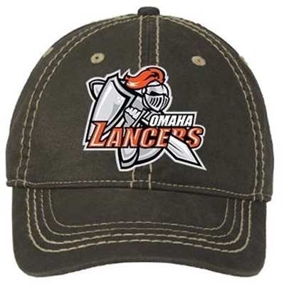 Picture of Omaha Lancers Distressed Adjustable Hat - Blk
