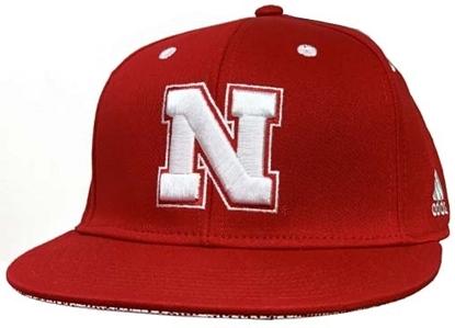 Picture of Nebraska Adidas®Flat Brim Hat - Snapback