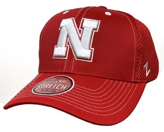 Picture of Nebraska Z Pregame Hat | Stretch Fit