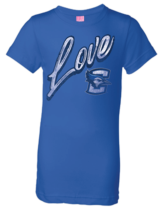 Picture of Creighton Girls Love T-shirt - Royal