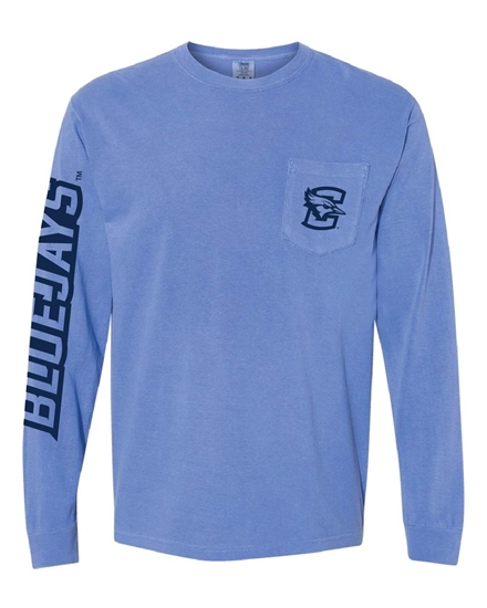 Picture of Creighton Pocket Long Sleeve Shirt (CU-205)