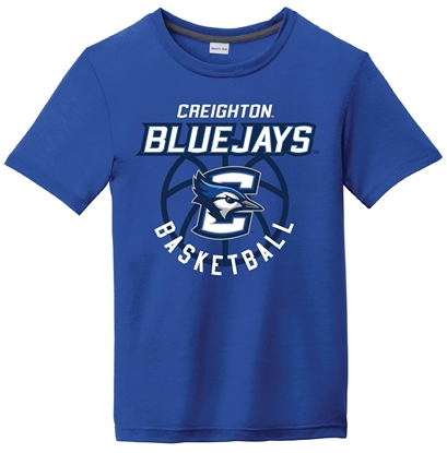 Picture of Creighton Bluejay Basketball Youth Performance Tee