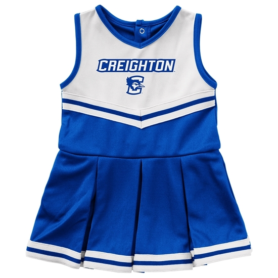 Picture of Creighton Colosseum® Infant Girls Pinky Cheer Dress
