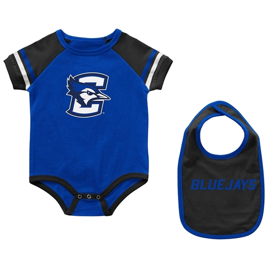 Picture of Creighton Colosseum® Infant Warner Onesie & Bib Set