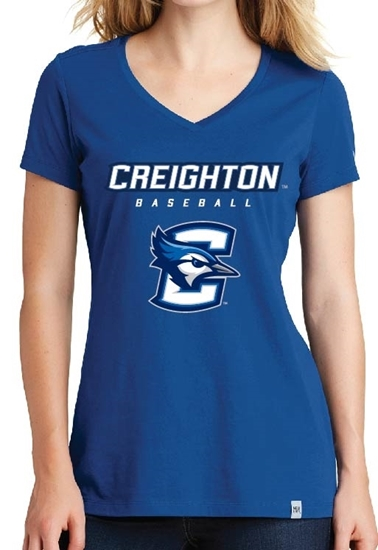 Picture of CU Baseball Ladies V-neck T-shirt