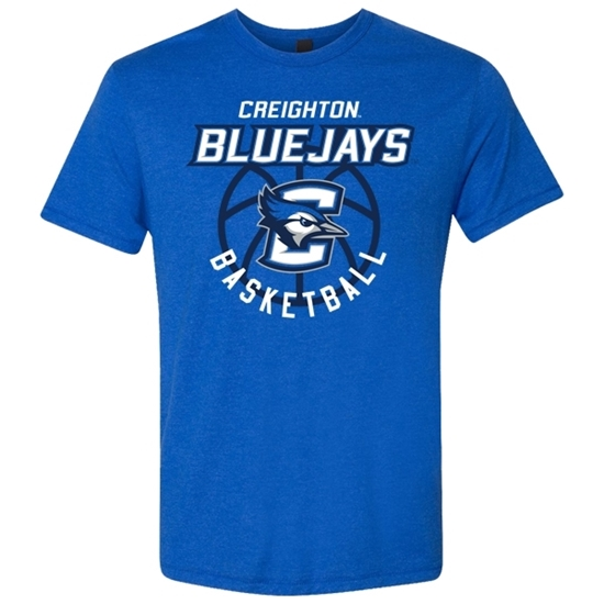 Picture of Creighton Basketball Tri-Blend Short Sleeve Shirt (CU-192)