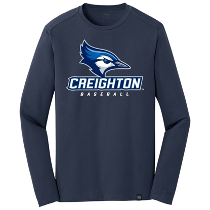 Picture of Creighton Baseball Heritage Blend Long Sleeve Shirt (CU-019)