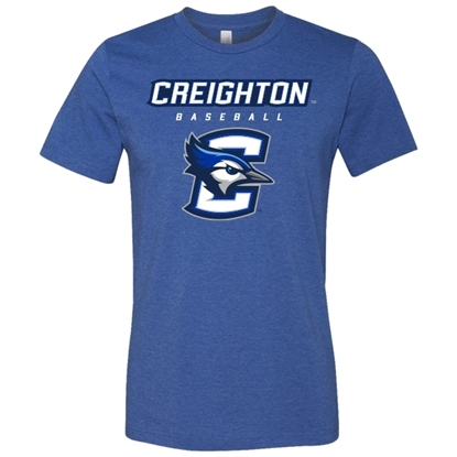 Picture of Creighton Baseball Soft Cotton Short Sleeve Shirt (CU-210)
