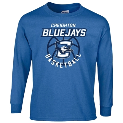 Picture of Creighton Basketball Youth Long Sleeve Shirt (CU-192)
