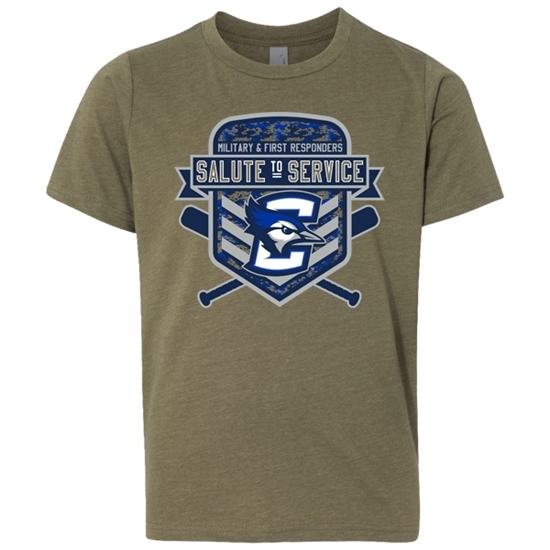 Picture of Creighton Baseball Salute to Service Youth Soft Cotton Short Sleeve Shirt