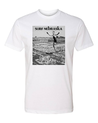 Picture of Surf Nebraska Vintage Poster T-shirt
