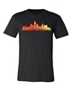 Picture of Omaha Skyline Warm Watercolor T-shirt