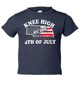 Picture of Knee High 4th of July Nebraska Toddler Tee