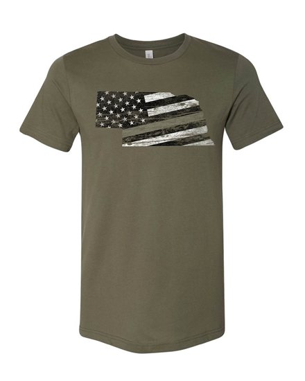Picture of Nebraska Military Flag Shirt