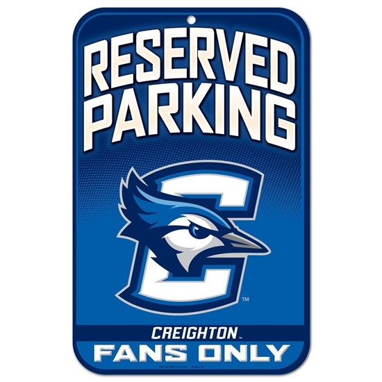 "Picture of Creighton Wincraft® 11"" x 17"" Reserved Parking Sign"