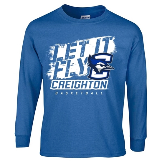 Picture of Creighton Youth Basketball Long Sleeve Shirt (CU-179)