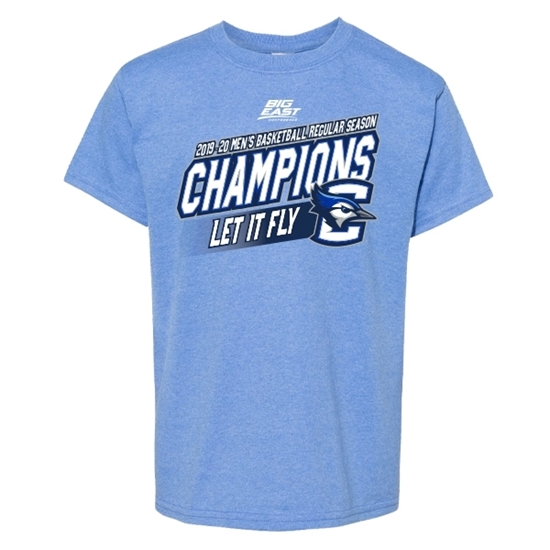 Picture of Creighton Youth 2019-20 Big East Basketball Regular Season Champions Short Sleeve Shirt