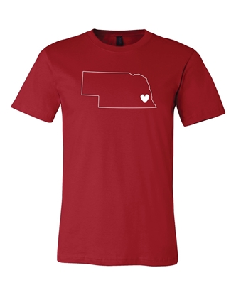 Picture of Nebraska Heart T-shirt