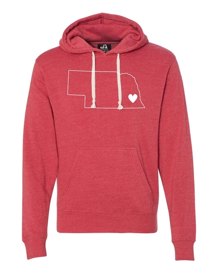 Picture of Nebraska Heart Triblend Hoodie