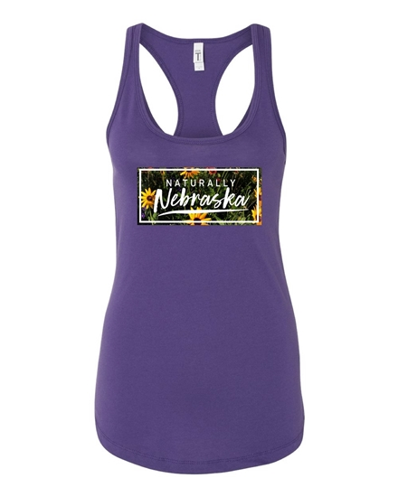 Picture of Naturally Nebraska Daisies Racerback Tank