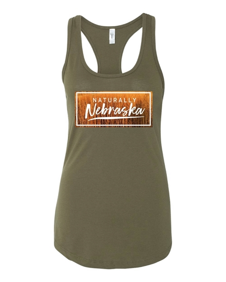 Picture of Naturally Nebraska Golden Grain Racerback Tank