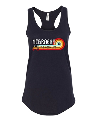 Picture of Nebraska Retro Tractor Racerback Tank