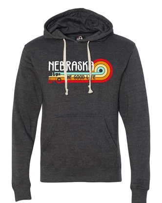 Picture of Nebraska Retro Tractor Triblend Hoodie