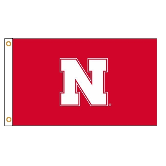 Picture of Nebraska Iron N Applique Flag