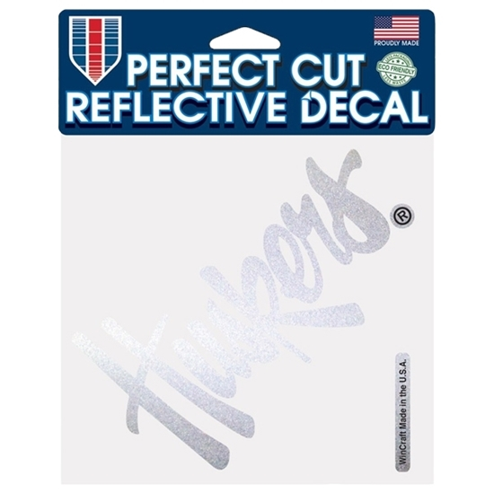 "Picture of Nebraska 6"" x 6"" Perfect Cut Reflective Decal"