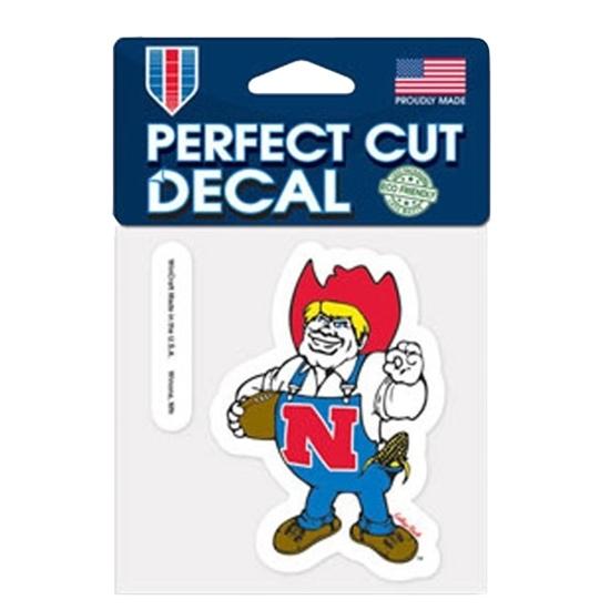"""Picture of Nebraska 4"""" x 4"""" Herbie Perfect Cut Decal"""