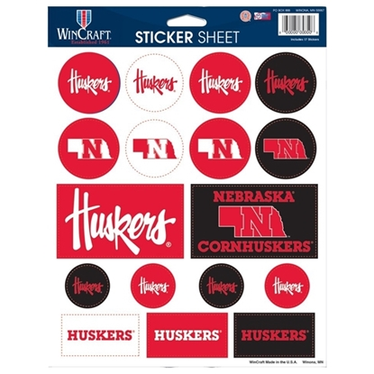 "Picture of Nebraska 8.5"" x 11 Sticker Sheet"