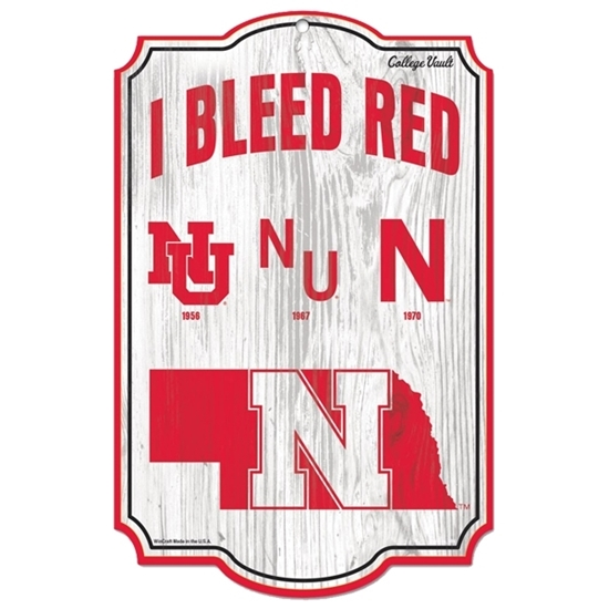 Picture of Nebraska I Bleed Red Sign