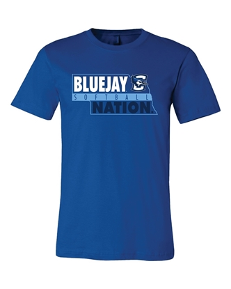 Picture of Creighton Softball Soft Cotton Short Sleeve Shirt  (CU-237)