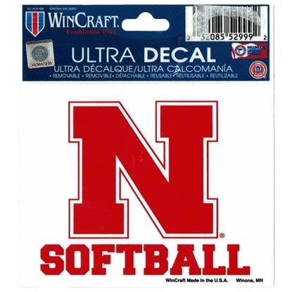 Picture of Nebraska Softball Decal